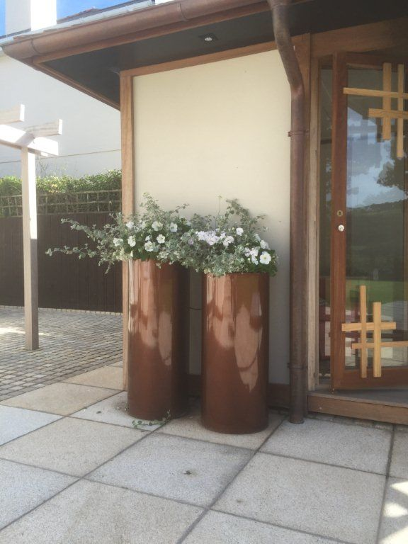 tall cylinder planters grp from