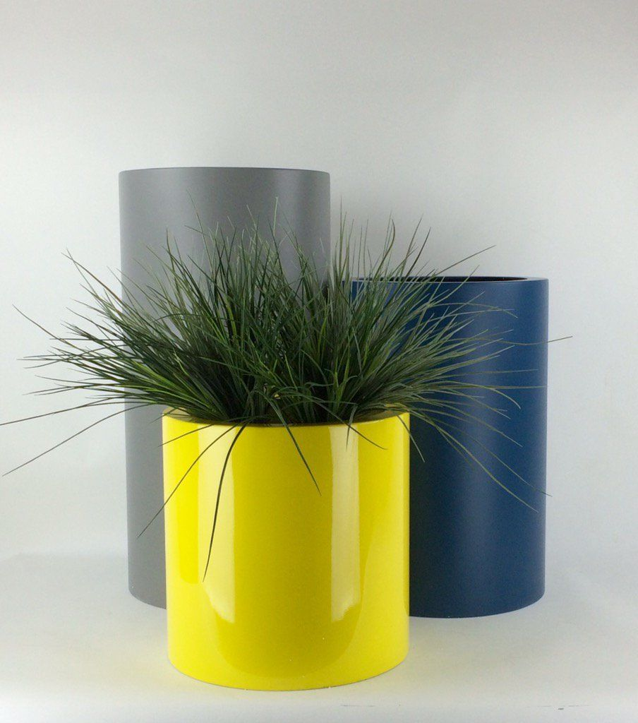 tall cylinder planters grp from. Black Bedroom Furniture Sets. Home Design Ideas