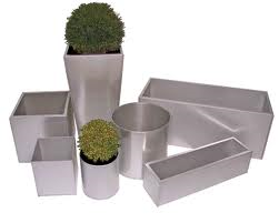 Aluzinc Square Planters From potstore.co.uk