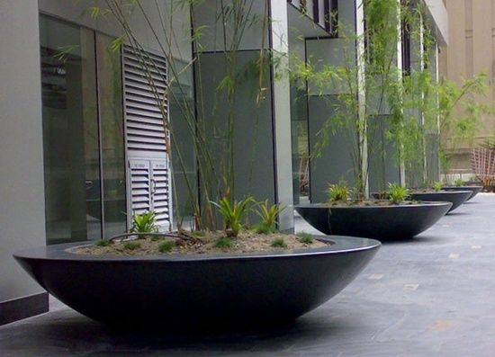New Large Fibreglass Bowl Planters from potstore.co.uk NC41