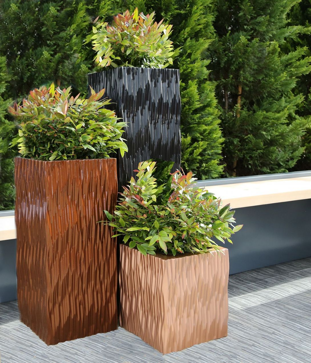 GRp Flexi Tall Square & Trough Planters From potstore.co.uk on