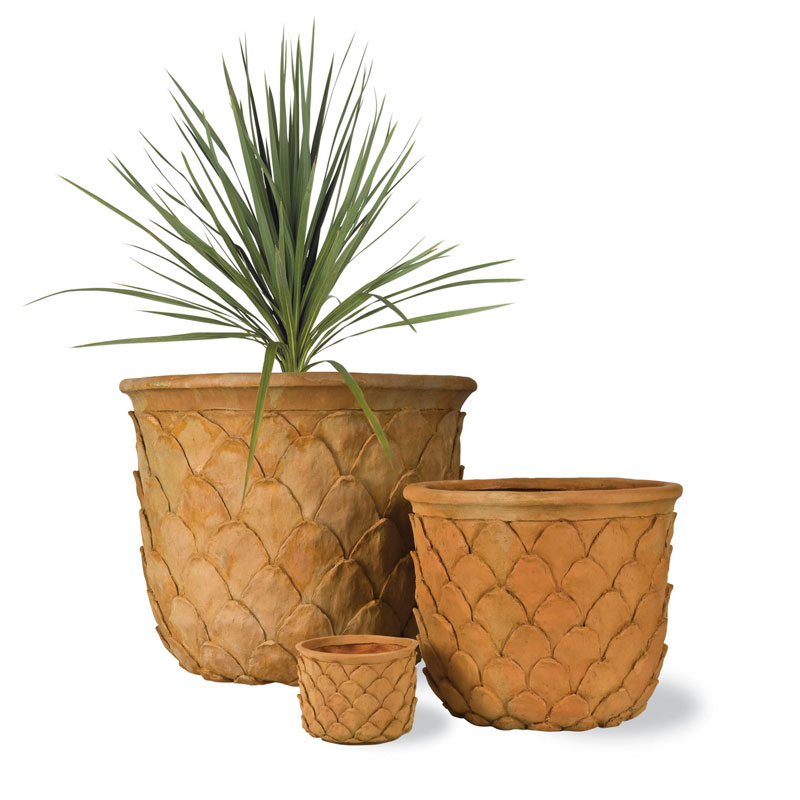 Pineapple Tropical Fibreglass Pot In Terracotta Finish From Potstore Co Uk
