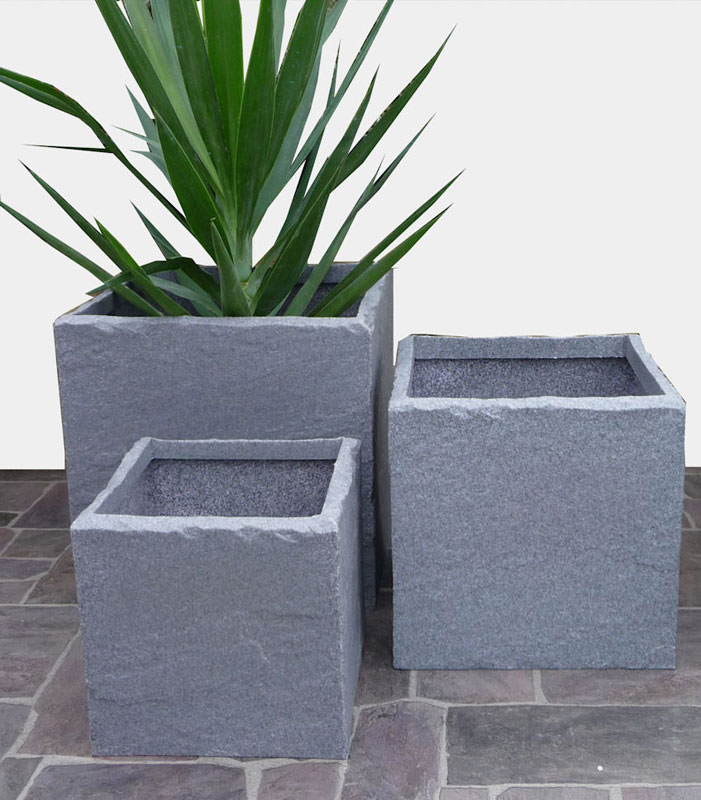 Plastic Stone Look Cube Planters From Potstore Co Uk